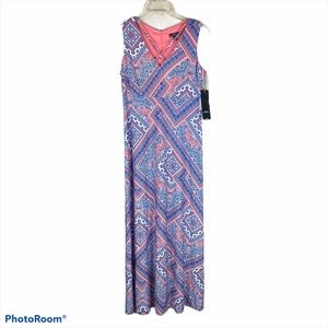R&K Fully Lined Maxi Dress Size 4P New With Tags